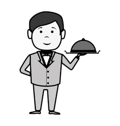 waiter hotel service isolated icon vector image