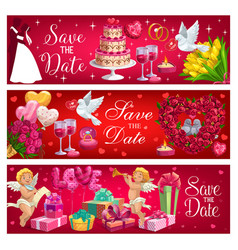 wedding day symbol bride and groom save date vector image