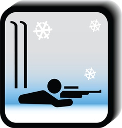 Winter icon -rifle vector image