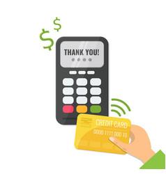 wireless method payment vector image