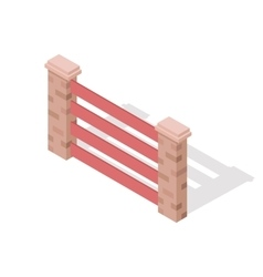Wooden Fence In Isometric Projection vector image