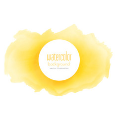 bright yellow watercolor grunge texture background vector image vector image