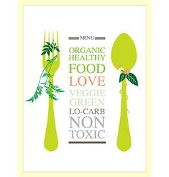 Food menu design template vector image vector image