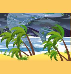 hurricane in ocean huge vector image