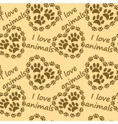 I love animals pattern vector image