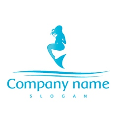 mermaid logo vector image
