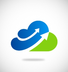 cloud arrow business logo vector image
