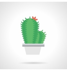 Prickly flower flat color icon vector image