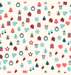 seamless pattern of christmas decoration vector image