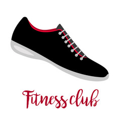 Shoes with text fitness club vector