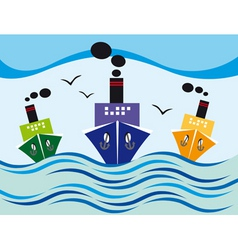 steamers vector image