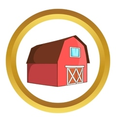 Barn for animals icon vector image vector image