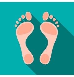 Human feet icon flat style vector image