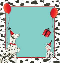 Dalmatian dog invitation vector image