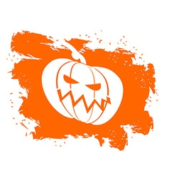 Flag Halloween grunge style on white background vector image