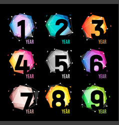 numbers in a geometric abstract color and cosmic vector image