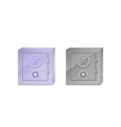 safe box icon set vector image