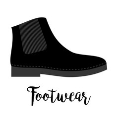 shoes with text footwear vector image
