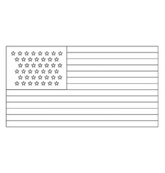 43 star united states flag 1890 vintage vector