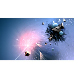Abstract broken forms and explosion vector