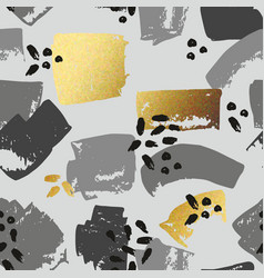 abstract seamless pattern with golden brush vector image