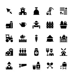 agriculture glyph icons vector image