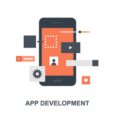 application development icon concept vector image