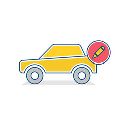 auto icon car edit sign vector image