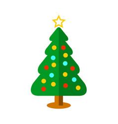 basic christmas tree ball decoration vector image