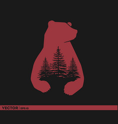 Bear country logo vector