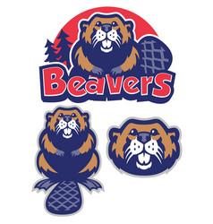 Beaver mascot vector