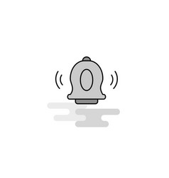 bell web icon flat line filled gray icon vector image