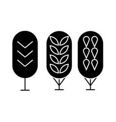 birch tree black icon concept birch tree vector image