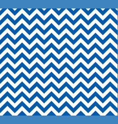 blue and white zig zag seamless pattern vector image