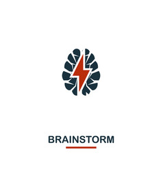 brainstorm icon premium style design from vector image