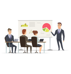 Business lesson teacher manager learning vector