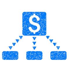 Cashout scheme grunge icon vector