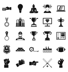 Chief icons set simple style vector