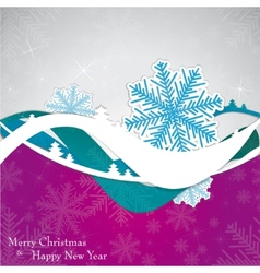 Christmas template frame design for greeting card vector