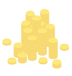 coins in flat design vector image
