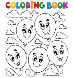 Coloring book balloons theme 2 vector