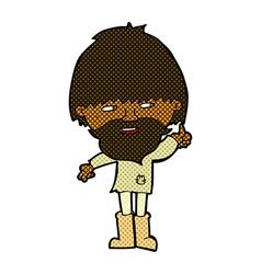 comic cartoon hippie man in wellington boots vector image