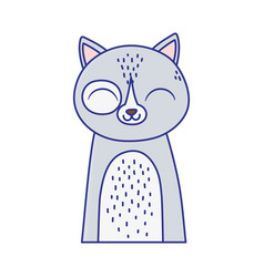cute cat portrait cartoon feline animal icon vector image