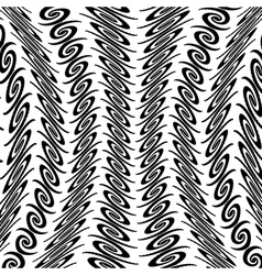Design warped vertical decorative pattern vector