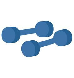 dumbbells icon cartoon vector image