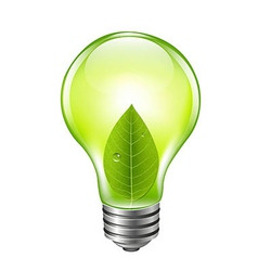 Eco Green Bulb vector image