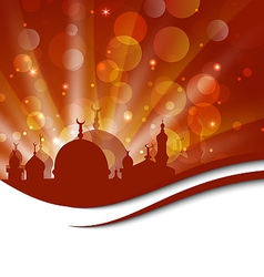 Elegant religious card with beautiful mosque vector image