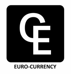 euro-currency symbol vector image