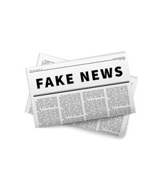 fake news header folded newspaper icon on white vector image