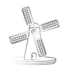fam windmill symbol vector image